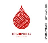 world hemophilia day. drop of...
