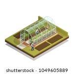 tunnel shaped plastic...   Shutterstock .eps vector #1049605889