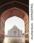 Small photo of View from Taj Mahal Mosque, Agra, Utter Pradesh, India