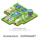 water treatment plants... | Shutterstock .eps vector #1049606687