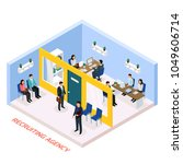recruitment agency for... | Shutterstock .eps vector #1049606714