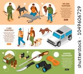 hunting information 3 isometric ... | Shutterstock .eps vector #1049606729