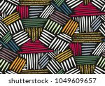 vector seamless pattern with... | Shutterstock .eps vector #1049609657