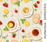 vector seamless pattern with... | Shutterstock .eps vector #1049615321