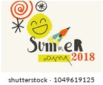summer camp 2018 for kids... | Shutterstock .eps vector #1049619125
