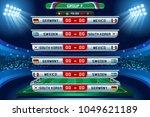 russia 2018 football world cup... | Shutterstock .eps vector #1049621189