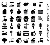 snack icons. set of 36 editable ...   Shutterstock .eps vector #1049624195