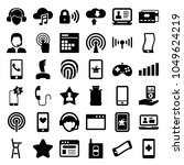 mobile icons. set of 36... | Shutterstock .eps vector #1049624219
