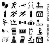 fitness icons. set of 25... | Shutterstock .eps vector #1049624411