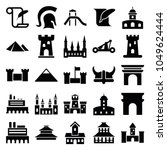 history icons. set of 25... | Shutterstock .eps vector #1049624444