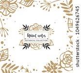 flower logo template. floral... | Shutterstock .eps vector #1049626745