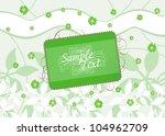 abstract vector flower... | Shutterstock .eps vector #104962709