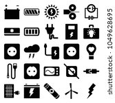 electricity icons. set of 25... | Shutterstock .eps vector #1049628695