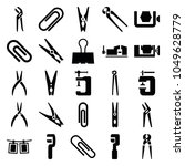 clamp icons. set of 25 editable ... | Shutterstock .eps vector #1049628779