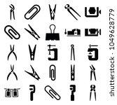Clamp Icons. Set Of 25 Editabl...
