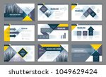 abstract presentation templates ... | Shutterstock .eps vector #1049629424