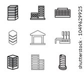 district icons. set of 9... | Shutterstock .eps vector #1049629925