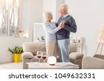 together forever. happy elderly ...   Shutterstock . vector #1049632331