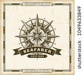 vintage seafarer label.... | Shutterstock .eps vector #1049633849