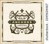 vintage old anchors label.... | Shutterstock .eps vector #1049634467