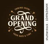 grand opening template  banner  ... | Shutterstock .eps vector #1049634644
