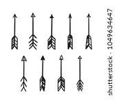 scandinavian style hand drawn... | Shutterstock .eps vector #1049634647