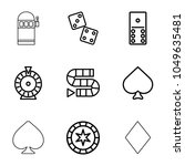 gambling icons. set of 9... | Shutterstock .eps vector #1049635481