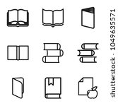 literature icons. set of 9... | Shutterstock .eps vector #1049635571