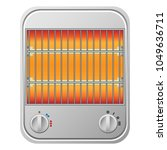 small heater mockup. realistic... | Shutterstock .eps vector #1049636711