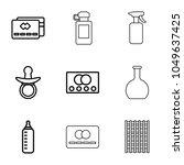 plastic icons. set of 9... | Shutterstock .eps vector #1049637425