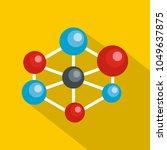 molecular lattice icon. flat... | Shutterstock .eps vector #1049637875