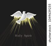 holy spirit icon. hand drawn... | Shutterstock . vector #1049639255