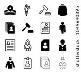 occupation icons. set of 16... | Shutterstock .eps vector #1049640395