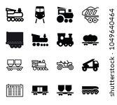 train icons. set of 16 editable ... | Shutterstock .eps vector #1049640464