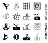 problem icons. set of 16... | Shutterstock .eps vector #1049641931