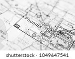 phoenix on the map usa | Shutterstock . vector #1049647541