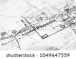 phoenix on the map usa | Shutterstock . vector #1049647559