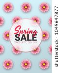 spring sale floral advertizing... | Shutterstock .eps vector #1049647877