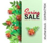 spring sale floral advertizing... | Shutterstock .eps vector #1049647904