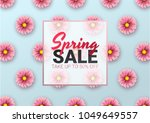 spring sale floral advertizing... | Shutterstock .eps vector #1049649557