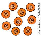 cut carrot root. fresh jucy... | Shutterstock .eps vector #1049650601