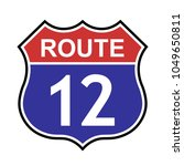 us route 12 sign  shield sign... | Shutterstock .eps vector #1049650811