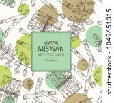 background with miswak  siwak ... | Shutterstock .eps vector #1049651315