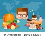 flat style illustration of man... | Shutterstock .eps vector #1049653397