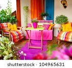 wonderful comfortable balcony... | Shutterstock . vector #104965631