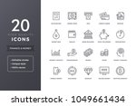 finance line icons. money and... | Shutterstock .eps vector #1049661434