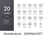 website line icons. web pages... | Shutterstock .eps vector #1049661437