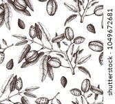 vector backgroung with almond... | Shutterstock .eps vector #1049672681