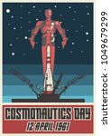 12 april 1961 cosmonautics day. ... | Shutterstock .eps vector #1049679299