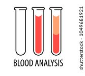 blood analysis. set of... | Shutterstock .eps vector #1049681921